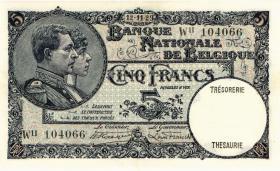 Belgien / Belgium P.097 5 Francs 1929 (2+)
