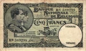 Belgien / Belgium P.097 5 Francs 1930 (3)