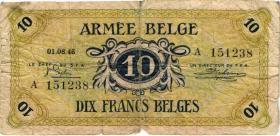 Belgien / Belgium M.4 10 Francs 1946 (5)