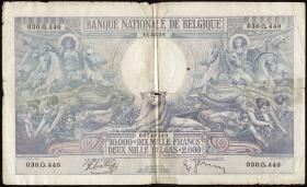 Belgien / Belgium P.105 10000 Franc = 2000 Belgas 1938 (5)