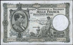 Belgien / Belgium P.104 1000 Francs = 200 Belgas 1933 (3)