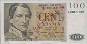 Belgien / Belgium P.129s 100 Francs o.J. Specimen (1/1-)
