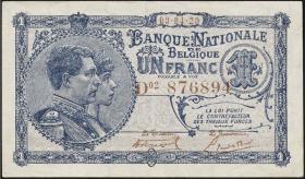 Belgien / Belgium P.092 1 Franc 1920 (2)