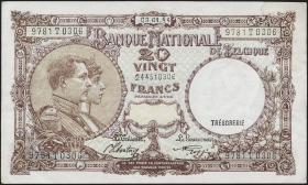 Belgien / Belgium P.111 20 Francs 1944 (1-)