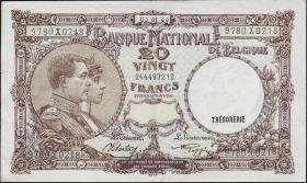 Belgien / Belgium P.111 20 Francs 1944 (3+)