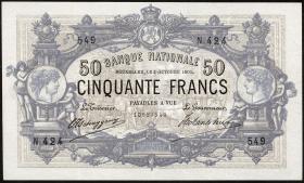 Belgien / Belgium P.063f 50 Francs 1905 (3+)