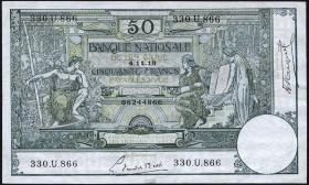 Belgien / Belgium P.068b 50 Francs 1919 (3+)
