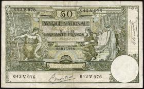 Belgien / Belgium P.068b 50 Francs 1922 (3)