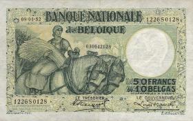Belgien / Belgium P.101 50 Francs = 10 Belgas 1932 (3+)