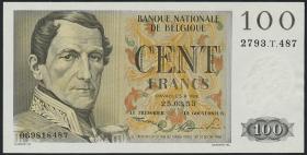 Belgien / Belgium P.129a 100 Francs 1953 (1)