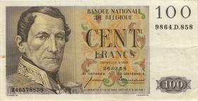 Belgien / Belgium P.129c 100 Francs 1958 (3+)