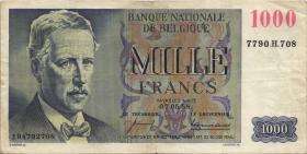 Belgien / Belgium P.131 1000 Francs 1958 (3)