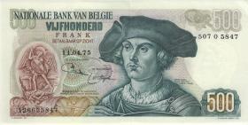 Belgien / Belgium P.135b 500 Francs 1975 (2)