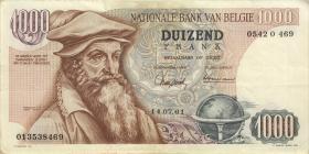 Belgien / Belgium P.136a 1000 Francs 1961 (3)