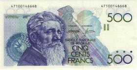 Belgien / Belgium P.143 500 Francs (1982-98) U4-1a (1)