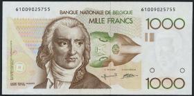 Belgien / Belgium P.144a 1000 Francs (1980-96) (1/1-)