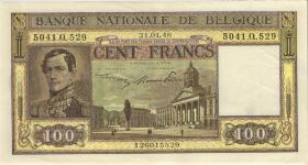 Belgien / Belgium P.126 100 Francs 1948 (2)