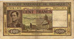 Belgien / Belgium P.126 100 Francs 1949 (4)