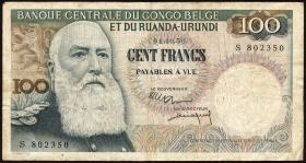 Belgisch-Kongo / Belgian Congo P.33b 100 Francs 1956 (3)