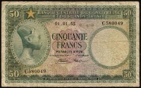 Belgisch-Kongo / Belgian Congo P.27b 50 Francs 1955 (5)
