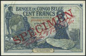 Belgisch-Kongo / Belgian Congo P.11bs 100 Francs 8.10.1912 Elisabethville (2)