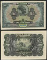 Belgisch-Kongo / Belgian Congo P.18s 500 Francs (1929) Druckprobe (1)