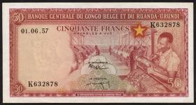 Belgisch-Kongo / Belgian Congo P.32 50 Francs 01.6.1957 (1)