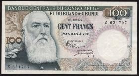 Belgisch-Kongo / Belgian Congo P.33b 100 Francs 1957 (2)