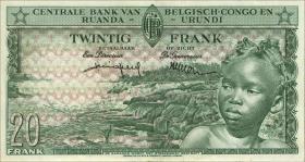 Belgisch-Kongo / Belgian Congo P.31 20 Francs 01.8.1957 (2)
