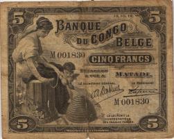 Belgisch-Kongo / Belgian Congo P.04B 5 Francs 15.10.1914 Matadi (4)