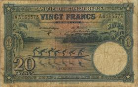 Belgisch-Kongo / Belgian Congo P.15E 20 Francs 10.04.1946 (4)