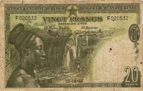 Belgisch-Kongo / Belgian Congo P.26 20 Francs 1953 (4)
