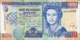 Belize P.71b 100 Dollars 2006 (1)