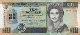 Belize P.54a 10 Dollars 1990 (1)