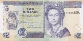 Belize P.66b 2 Dollars 2005 (1)