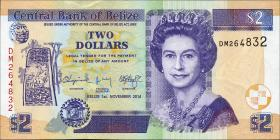 Belize P.66e 2 Dollars 2014 (1)