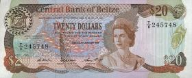 Belize P.49b 20 Dollars 1987 (1)
