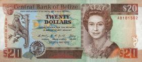 Belize P.55 20 Dollars 1990 (1)