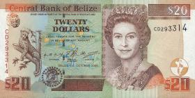 Belize P.63b 20 Dollars 2000 (1)