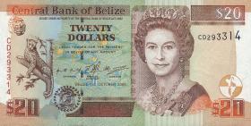 Belize P.63b 20 Dollars 2000 (1)
