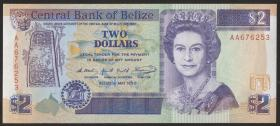 Belize P.52a 2 Dollars 1990 (1)