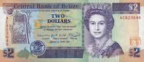 Belize P.52b 2 Dollars 1991 (1)