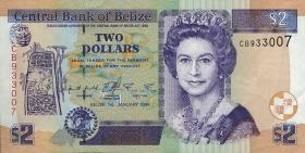 Belize P.60a 2 Dollars 1999 (1)