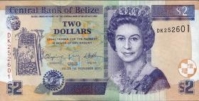 Belize P.66d 2 Dollars 2011 (1)