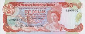 Belize P.39 5 Dollars 1980 (1)