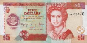 Belize P.67d 5 Dollars 2009 (1)