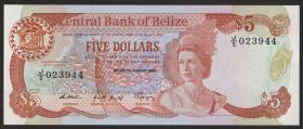 Belize P.47b 5 Dollars 1989 (1)