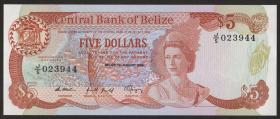 Belize P.47b 5 Dollars 1989 (1)