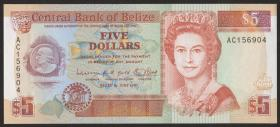 Belize P.53b 5 Dollars 1991 (1)