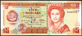Belize P.58 5 Dollars 1996 (1)
